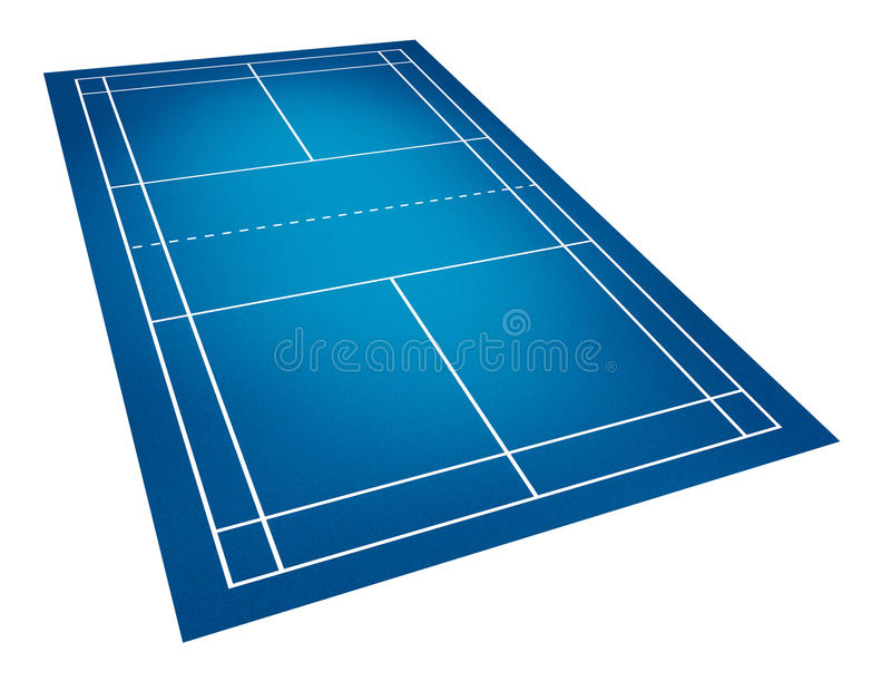 Badminton court royalty free stock photo