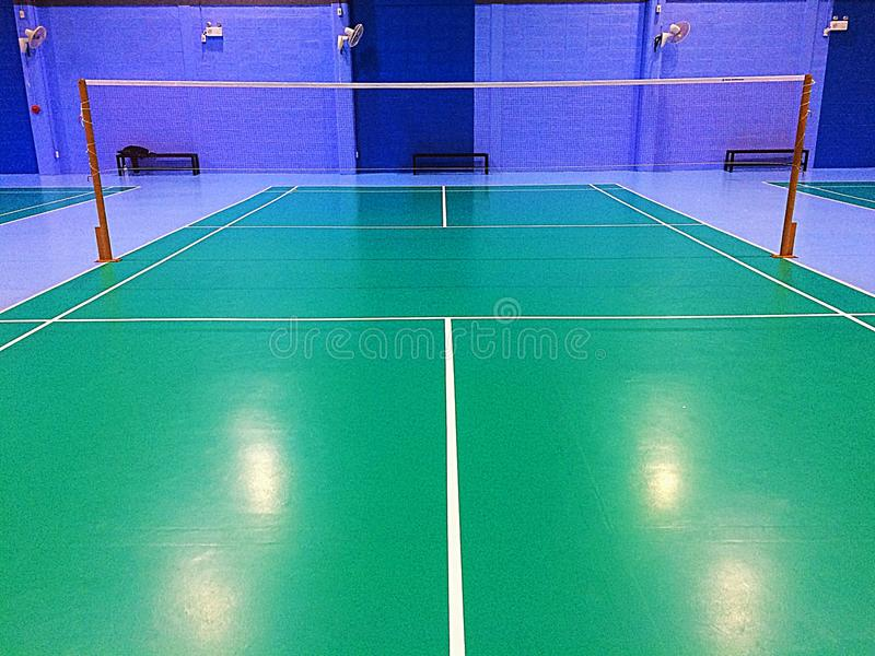 Badminton court. For player stock photography