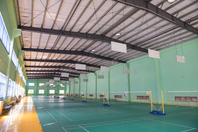 Badminton courts indoor. Horizontal composition royalty free stock photo