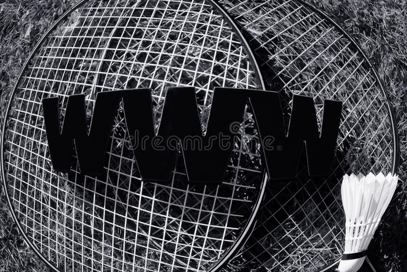 Badminton de WWW foto de stock