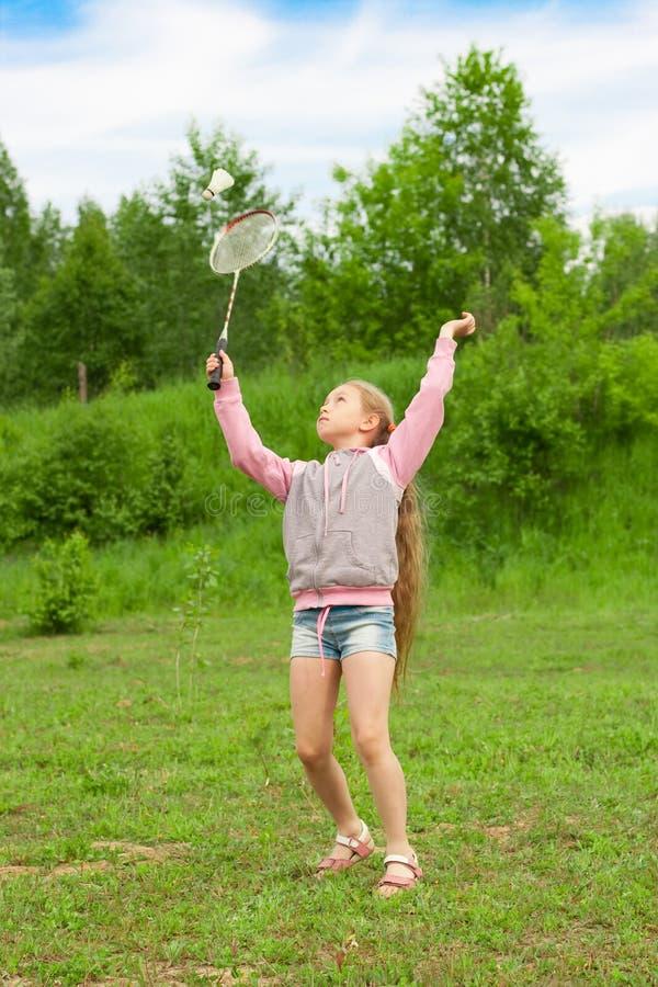 badminton dziewczyny mały bawić się obrazy royalty free