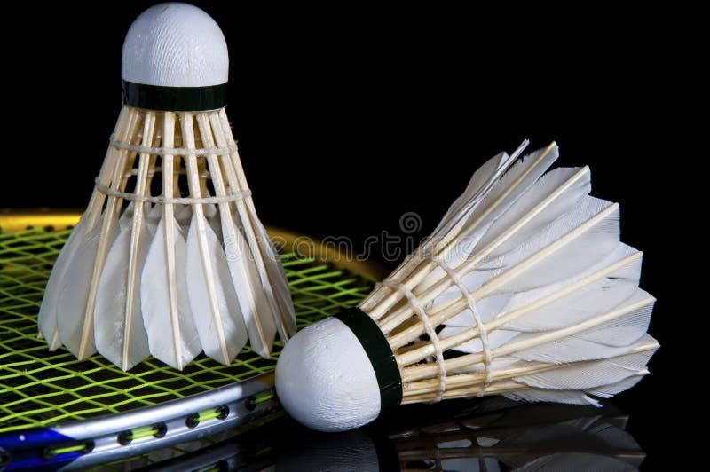 Badminton e volante fotos de stock