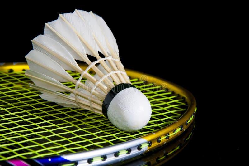 Badminton en voetenplankje royalty-vrije stock fotografie