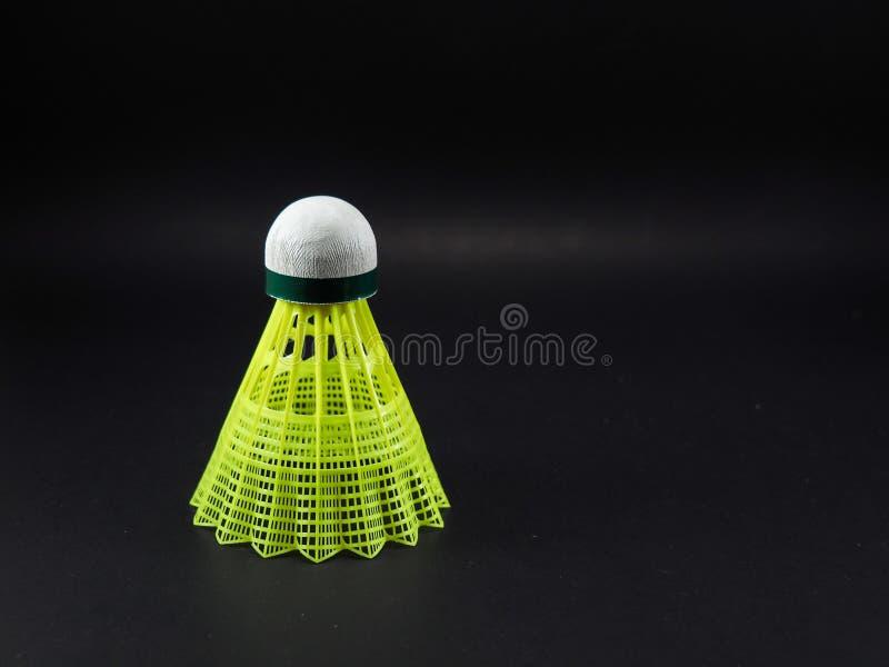 Badminton Geel Plastiek royalty-vrije stock afbeelding