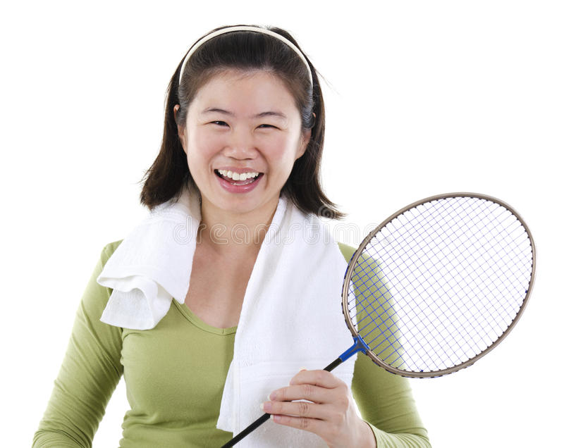 Badminton gracz obrazy royalty free
