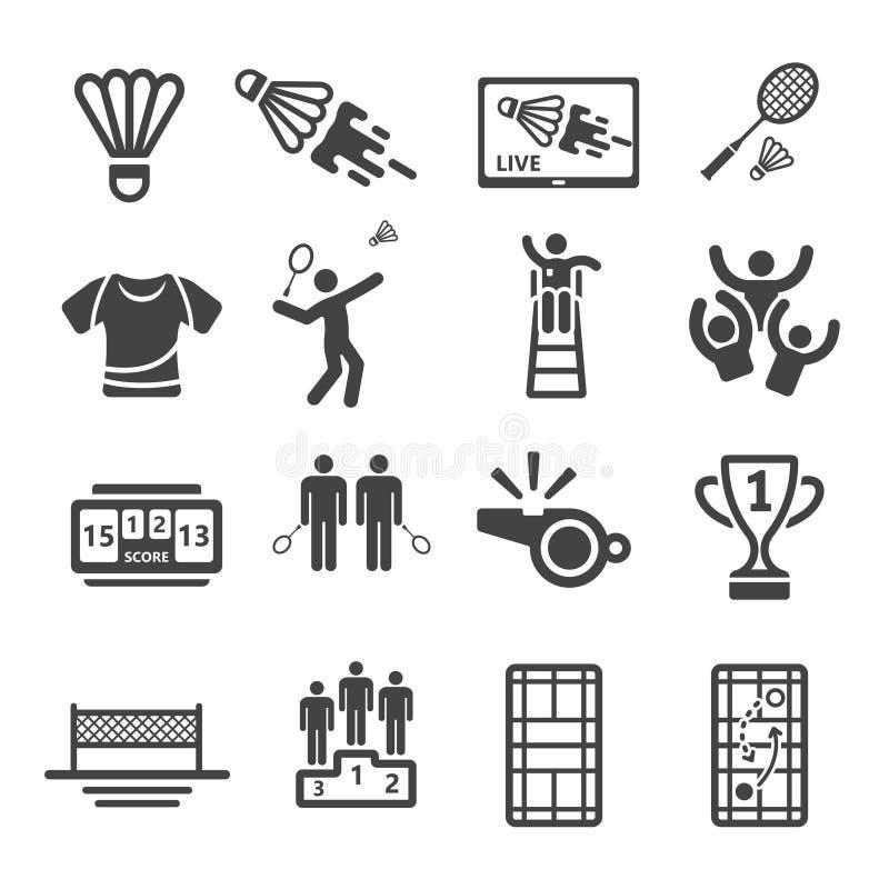 Free Badminton Icon Set Royalty Free Stock Photography - 136587717