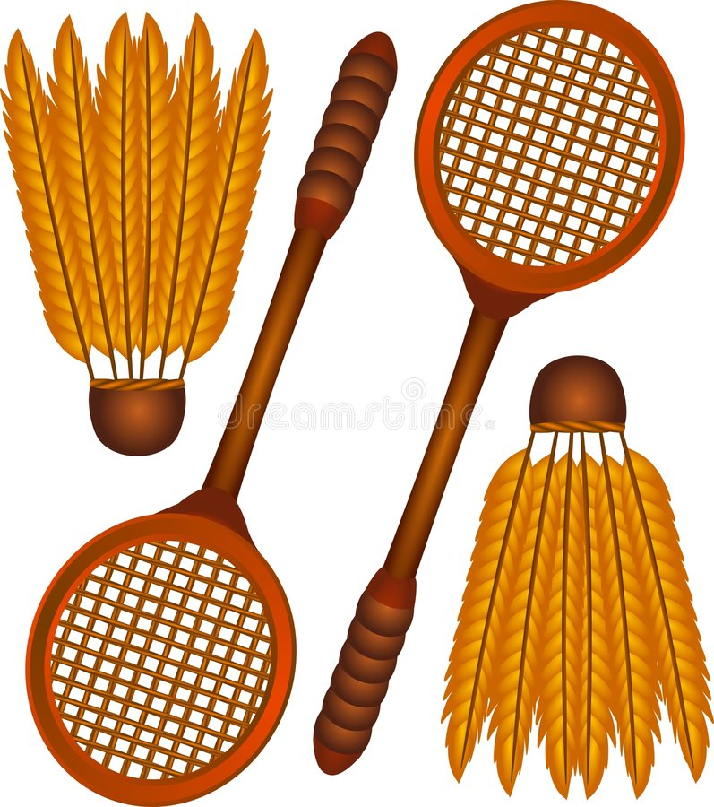 Download Badminton icons stock vector. Image of illustration, federball - 1908450