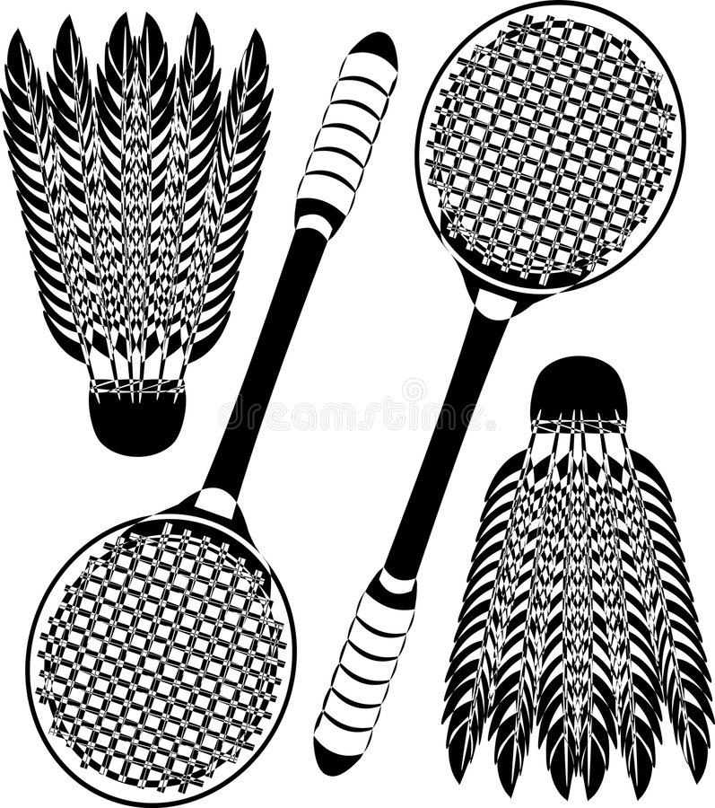 Download Badminton icons stock vector. Image of feather, activity - 1908471