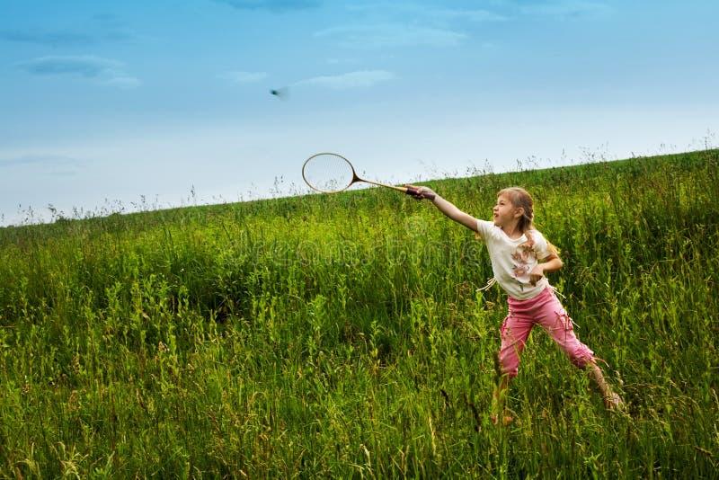 Badminton-joueur images libres de droits