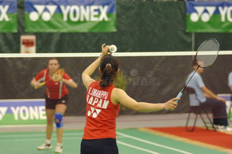 Badminton - Kaori Imabeppu - JPN royalty-vrije stock afbeeldingen