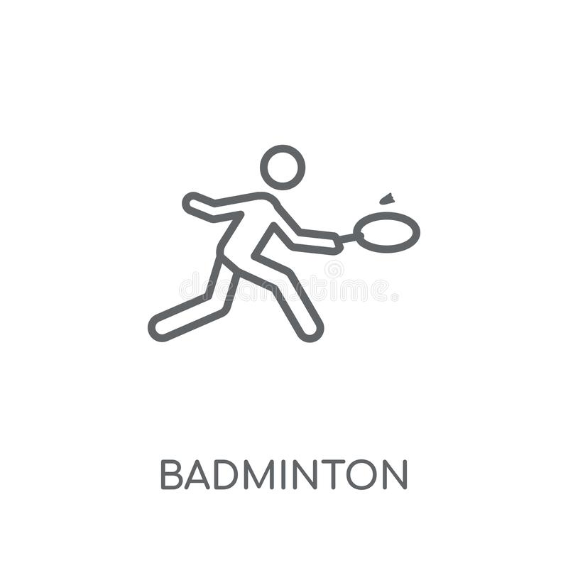 Badminton linear icon. Modern outline Badminton logo concept on stock illustration