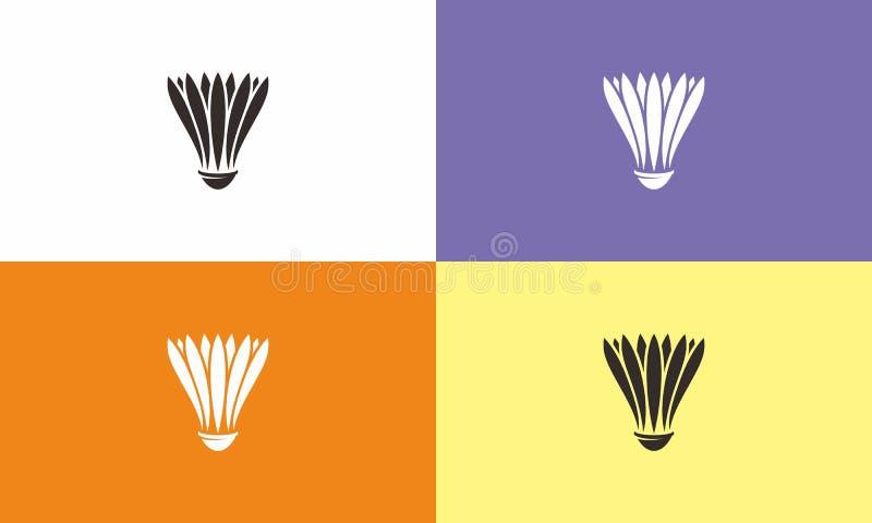Badminton-Logo stockbild