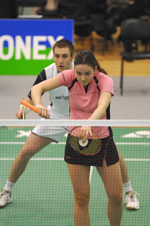 Badminton - Martyn Lewis WAL, Emma Mason SCO stock afbeeldingen