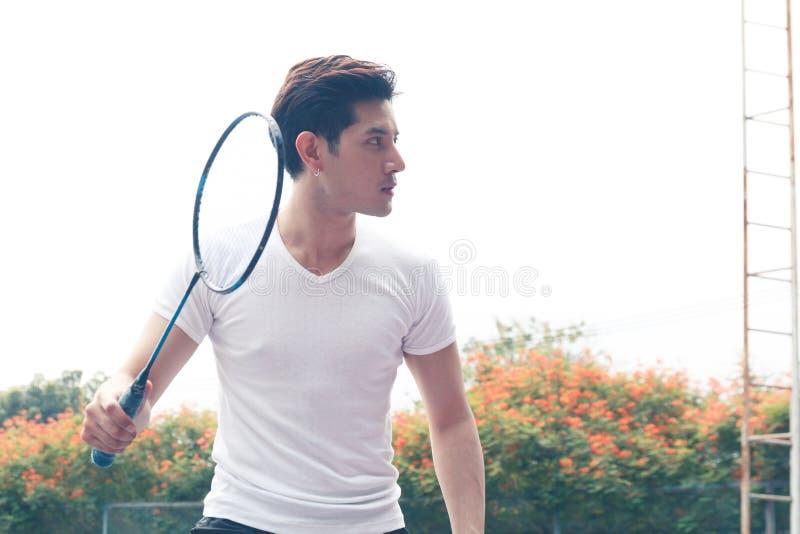 Badminton player royalty free stock photo