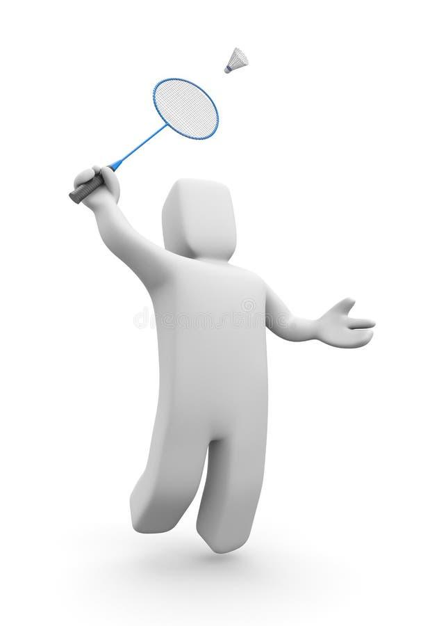Badminton Player Jumps Royalty Free Stock Photos