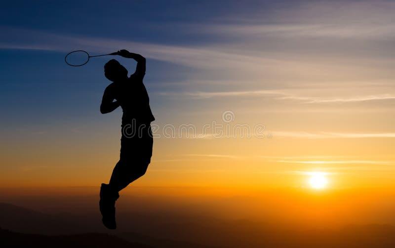 Badminton player stock image