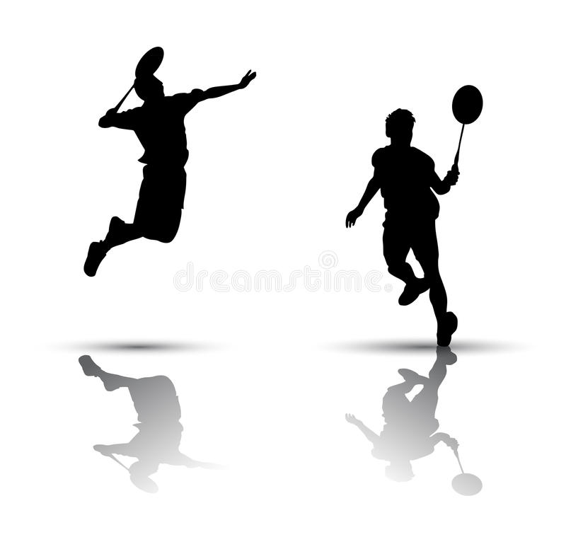 Download Badminton Players Silhouette Stock Vector - Image: 22810930