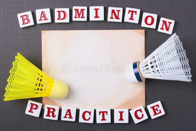 Badminton Practice Royalty Free Stock Photo