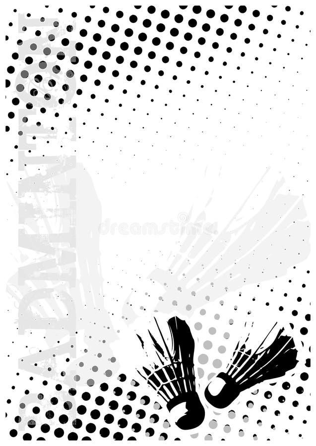 Badminton punktiert Plakathintergrund lizenzfreie abbildung