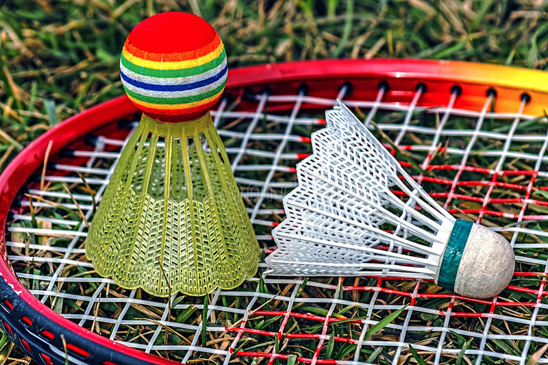 Download Badminton Racket And Shuttlecock Stock Image - Image of match, exercise: 39513969