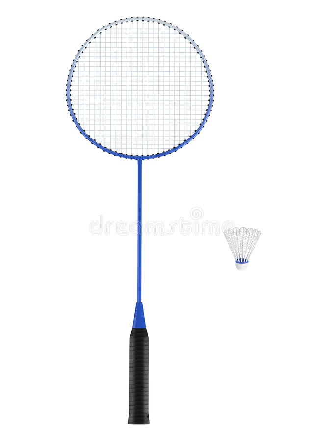 Download Badminton Racquet With Shuttlecock Stock Illustration - Image: 23388633