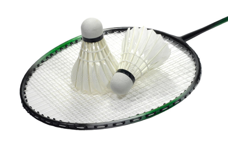Download Badminton Racquet With Shuttlecock Over White Stock Image - Image: 13726805