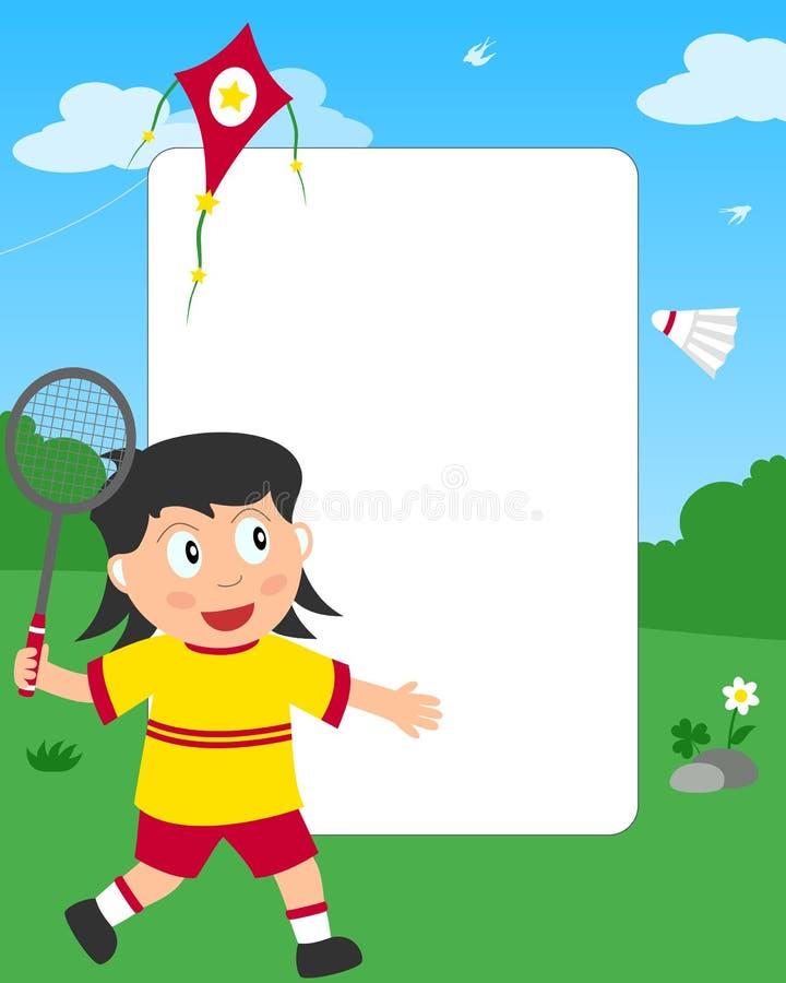 badminton ramowa dziewczyny fotografia ilustracja wektor