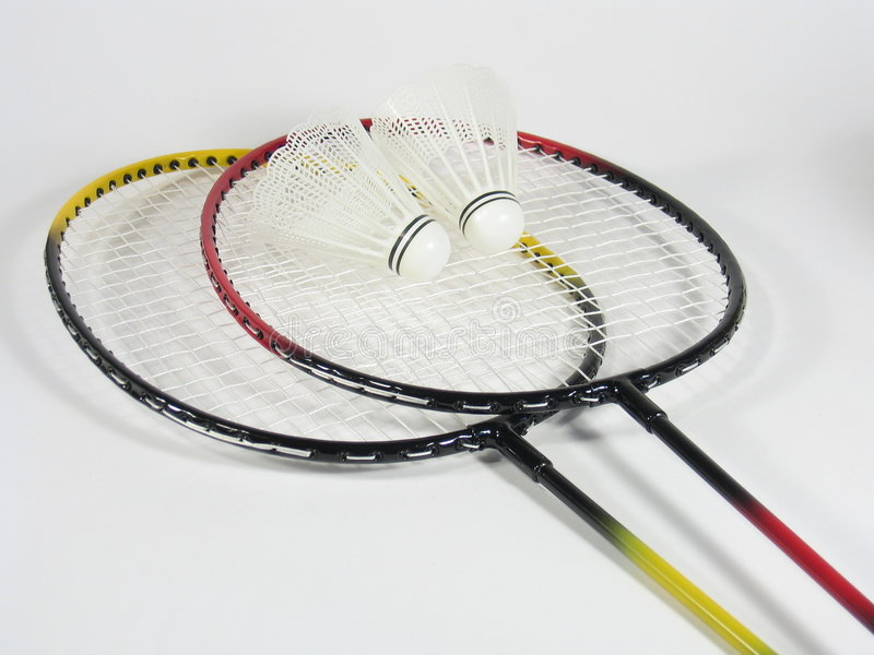 Badminton Raquets I lizenzfreies stockbild
