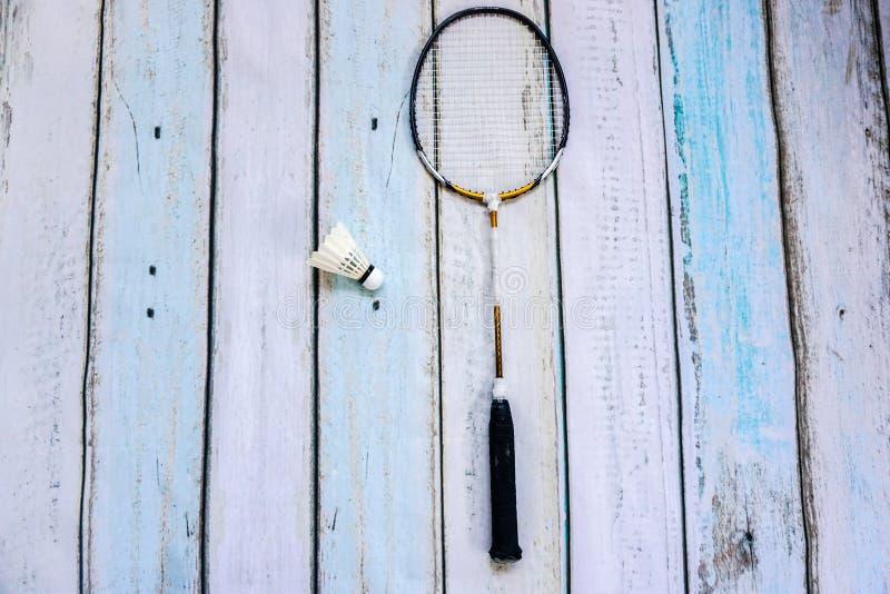 Badminton rocket with shuttlecock. Badminton rocket with a shuttlecock stock photos