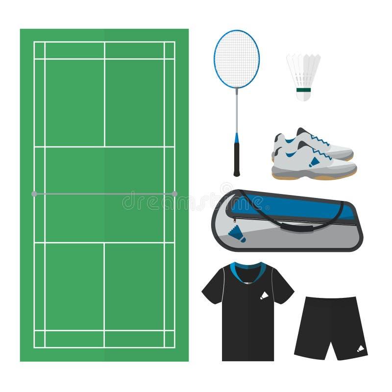 Badminton rzeczy 001 ilustracji