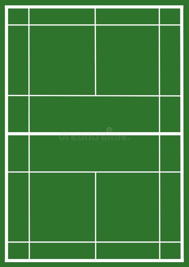 badminton sąd ilustracji