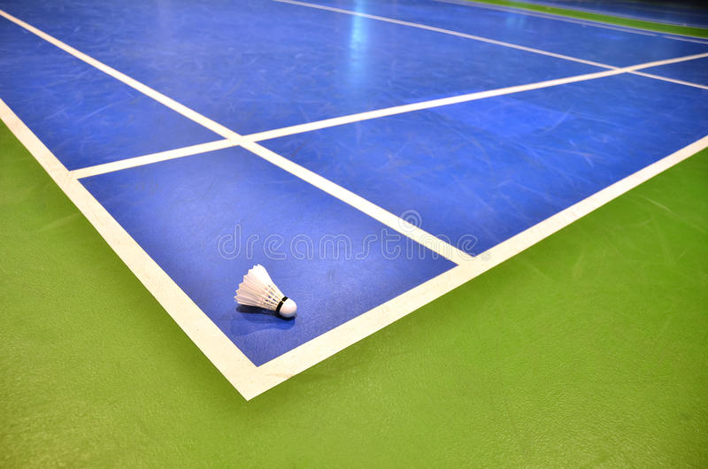 Badminton sąd obrazy royalty free
