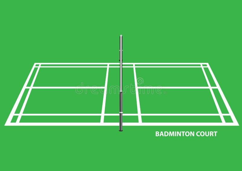 Badminton sądu Bocznego widoku wektoru ilustracja royalty ilustracja
