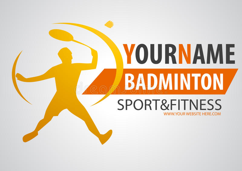badminton shop logo stock illustration