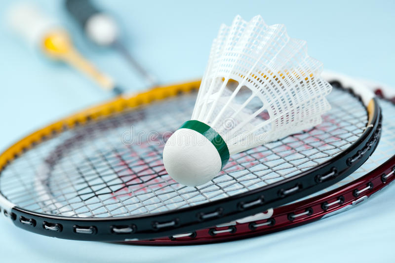Badminton shuttlecock stockfotografie