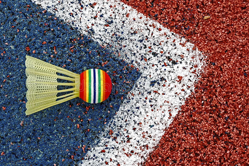 Download Badminton shuttlecock-4 stock photo. Image of line, material - 29256318