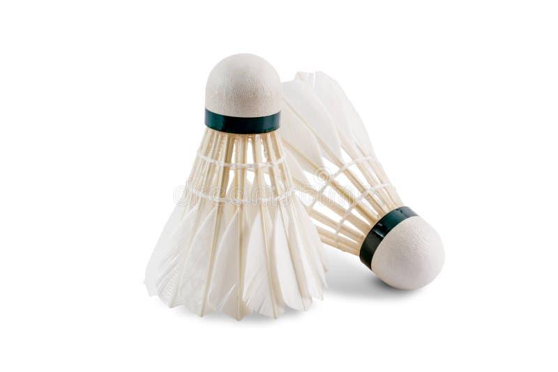 Badminton shuttlecock isolated on white. Badminton shuttlecock cut on white with clipping path royalty free stock photography