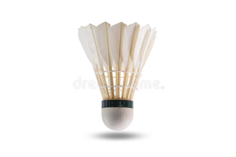 Badminton shuttlecock isolated. On white background with clipping path royalty free stock images