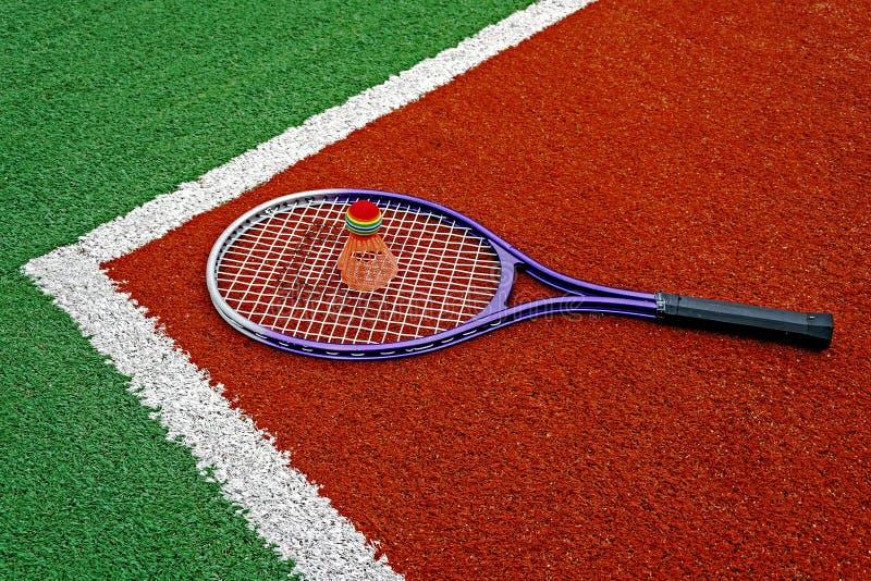 Badminton Shuttlecock & Racket Stock Images