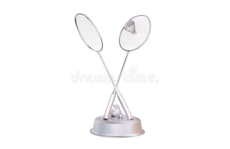 Badminton-silberne Trophäe stock abbildung