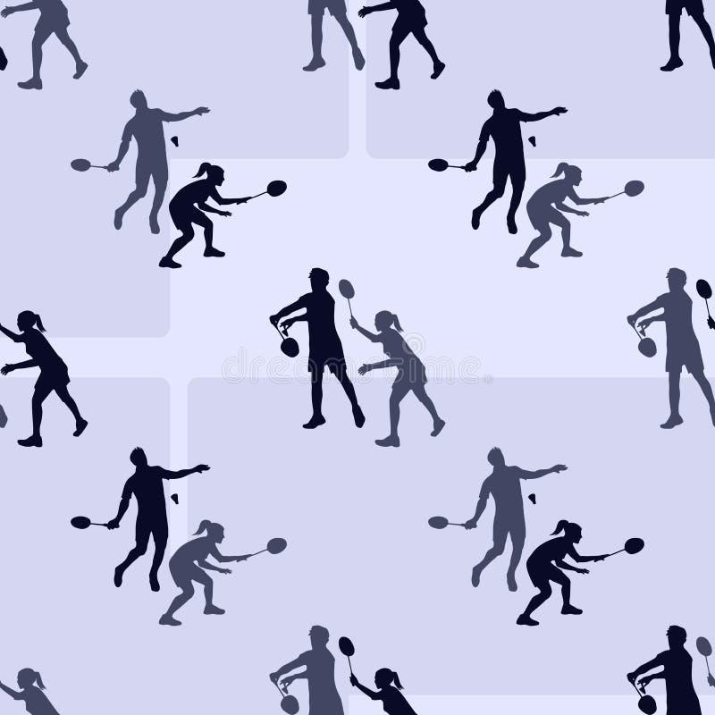 Badminton sportów wzór 1866 opierały się Karol Darwin ewolucyjnego wizerunku tree bezszwowego wektora ilustracji