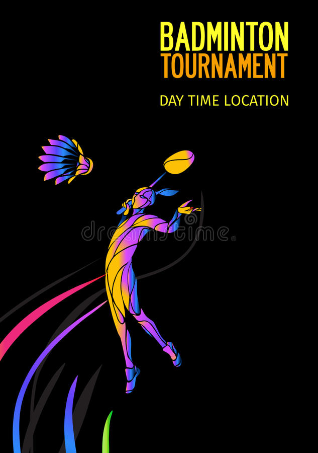 Badminton Sport Invitation Poster Or Flyer Background With Empty ...