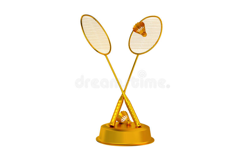 Badminton trophy in Gold royalty free stock images