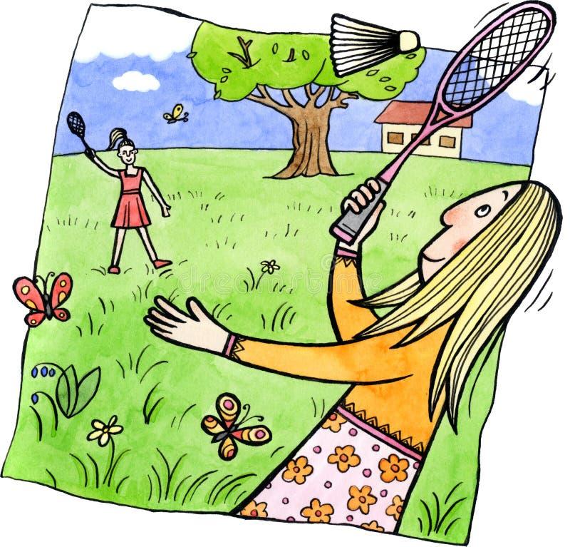 Badminton royalty free illustration