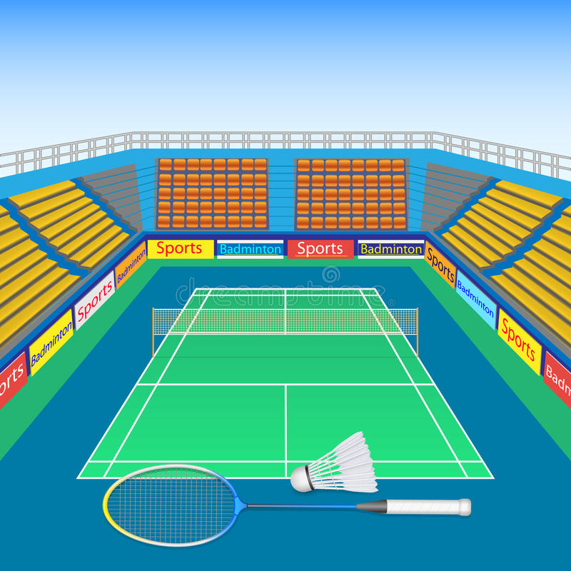 Badminton und Federball vektor abbildung