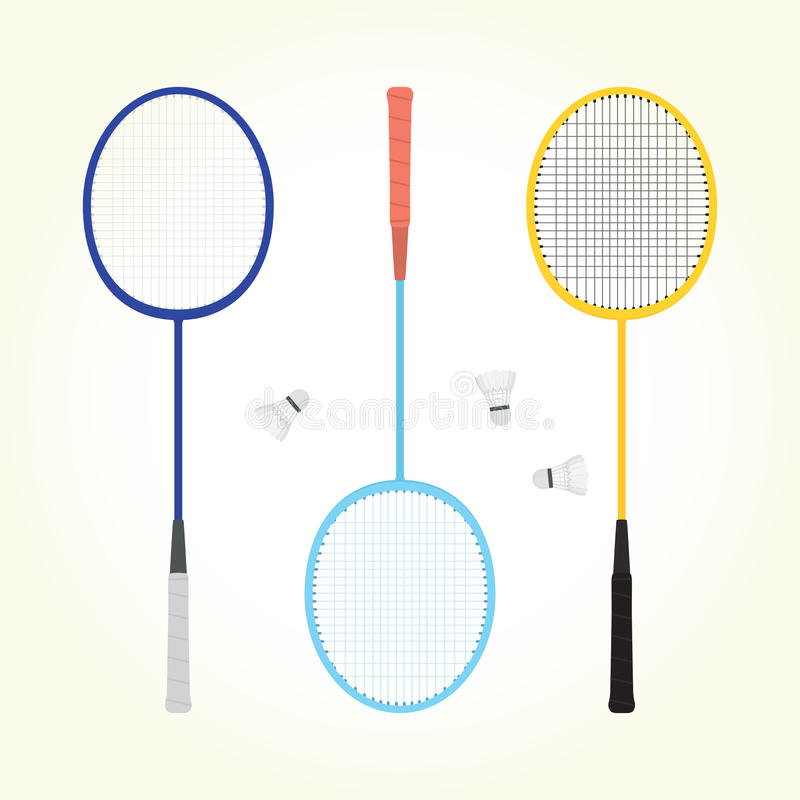 Free Badminton Vector Set Royalty Free Stock Image - 46997116