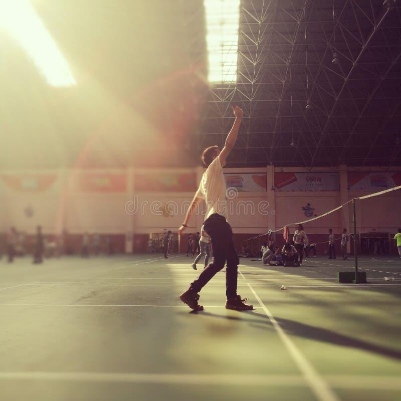 Badminton w popołudniu obraz royalty free