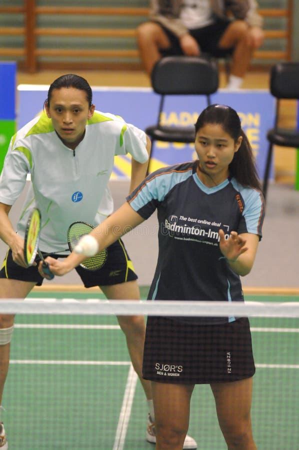 Badminton - Yi Zhang, Jiani Cai - CHN stockbilder