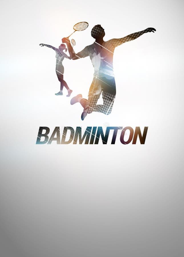 Badmintonachtergrond vector illustratie