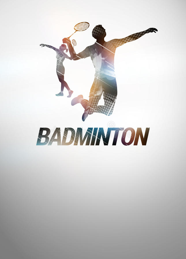 Badmintonhintergrund vektor abbildung
